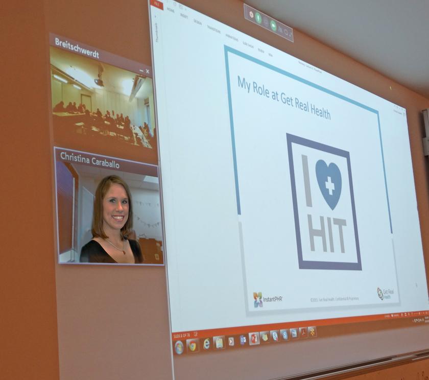 Während der Videokonferenz Foto: FH-Flensburg